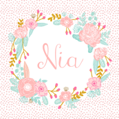 custom name fabric baby blanket girls name design