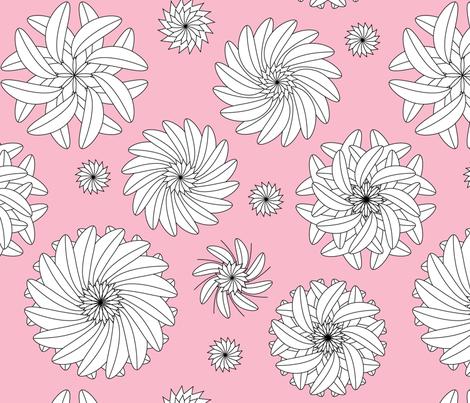 leaf mandalas fabric by lilcubby on Spoonflower - custom fabric