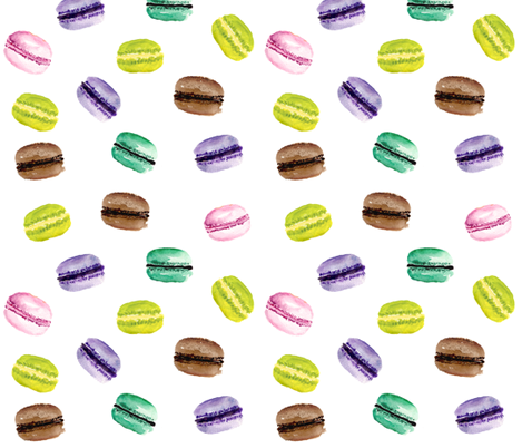 Macarons fabric by wrensroost on Spoonflower - custom fabric
