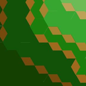 Green Geo Medallion; Very Large