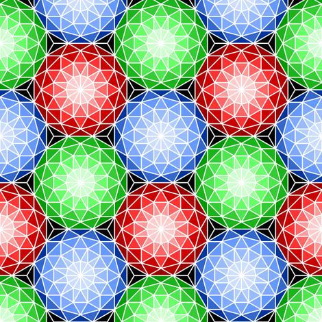 SC3 V gem 3 : geodesic biomes fabric by sef on Spoonflower - custom fabric
