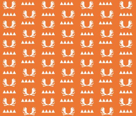 moose antlers fabric // moose fabric andrea lauren fabric nursery baby design - orange fabric by andrea_lauren on Spoonflower - custom fabric