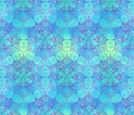 Mandala - Early Dawn fabric by samalah on Spoonflower - custom fabric
