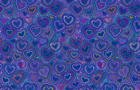 Hippy Needlepoint Hearts fabric by elramsay on Spoonflower - custom fabric