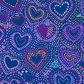 Hippy Needlepoint Hearts