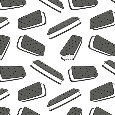 ice cream sandwich - white fabric by littlearrowdesign on Spoonflower - custom fabric