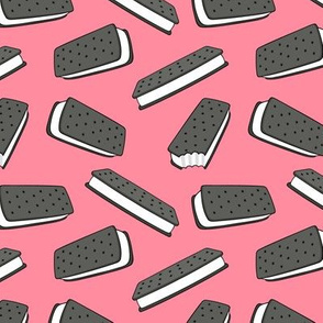 ice cream sandwich - pink