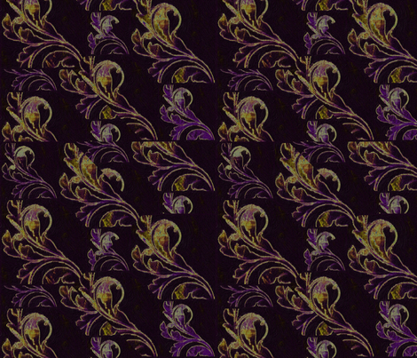 Paisley In Gold on Black fabric by desertattitude on Spoonflower - custom fabric