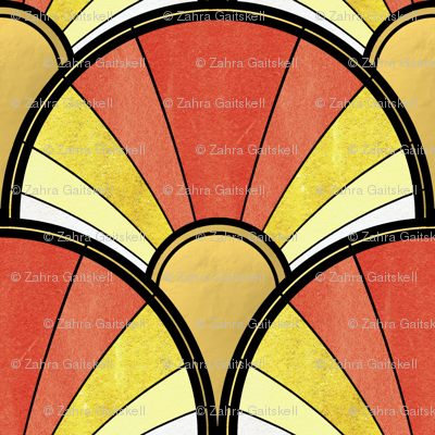 Golden Sunshine Art Deco Pattern