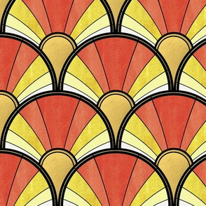 Golden Sunshine Art Deco Pattern