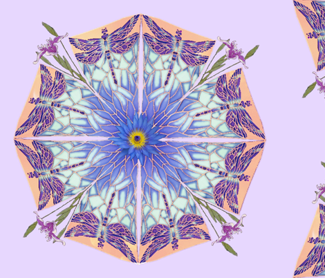 Pond Mandela ; Large fabric by twilfley on Spoonflower - custom fabric