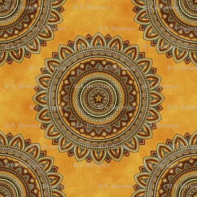 Golden Mandala - Sunny