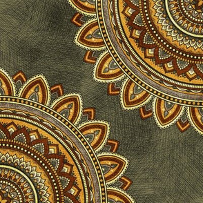 Golden Mandala - Night