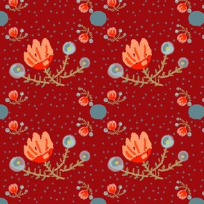 Delicate Petals - red