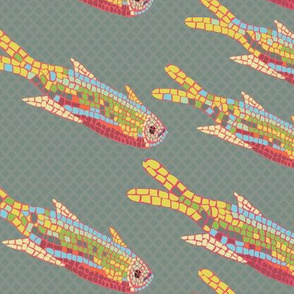 Mosaic Fish muted