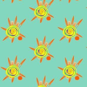 Sunspots on Sea Foam