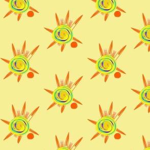 Sunspots on Jersey Cream - Medium Scale