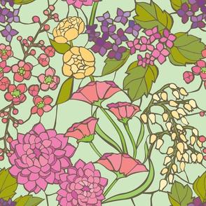 Mosaic Garden - Mint