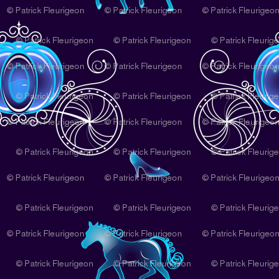 Princess Carriage - Blue