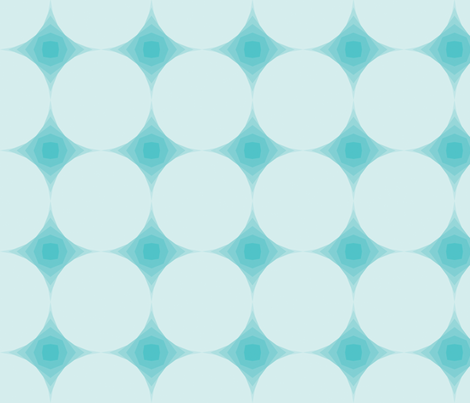 Blue Geodesic Lines fabric by anniecdesigns on Spoonflower - custom fabric