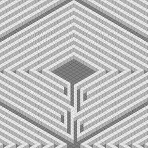 3D maze mosaic