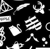 Pastel Potter - Black & White