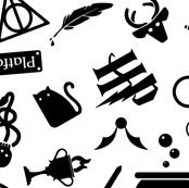 Pastel Potter - White & Black