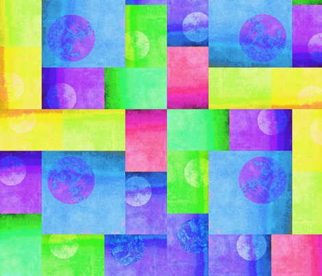 Blocks Green Blue Yellow fabric by desertattitude on Spoonflower - custom fabric