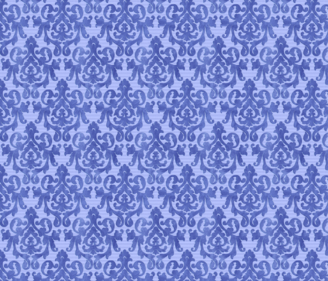Blue Damask X-Small fabric by piper_&_paige on Spoonflower - custom fabric