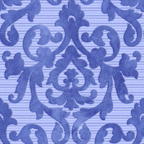 Blue Damask Medium