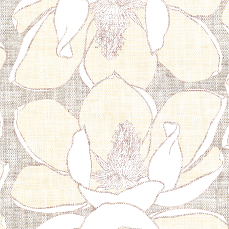Fable Magnolia  fabric by nouveau_bohemian on Spoonflower - custom fabric