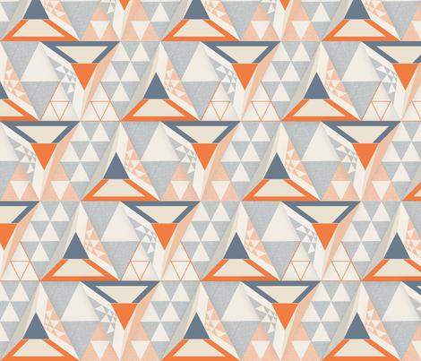 Geodesic Geometric fabric by j9design on Spoonflower - custom fabric