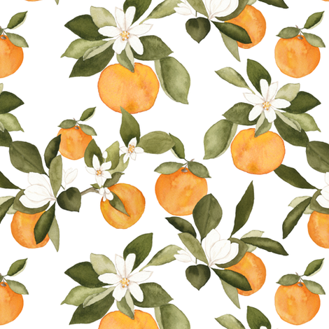 Orange Blossom fabric by mintpeony on Spoonflower - custom fabric