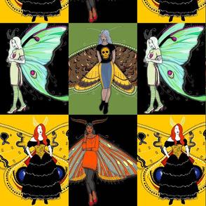 Moth fairy tiles