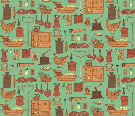Country fabric by annas-roses on Spoonflower - custom fabric
