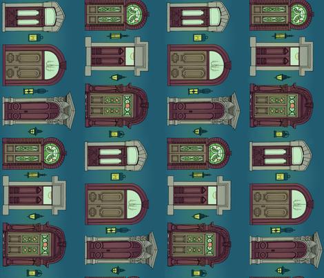 Doors fabric by annas-roses on Spoonflower - custom fabric