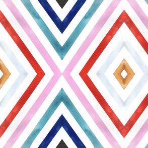 Mod Diamond Stripe Color