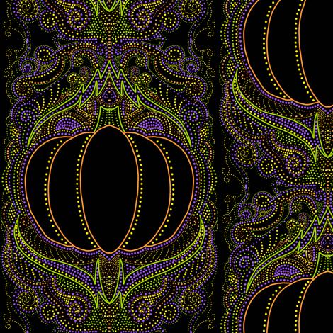 Elegant Halloween pumpkin fabric by beesocks on Spoonflower - custom fabric