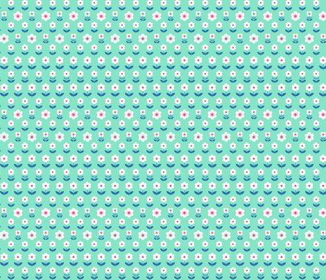 Retro_flowers_mint_and_pink_150_hazel_fisher_creations_shop_preview
