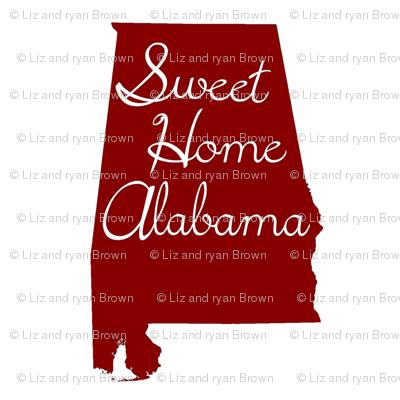 Alabama Quilt Square // Crimson