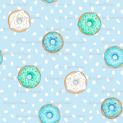 Small Donuts and Spotty Blue