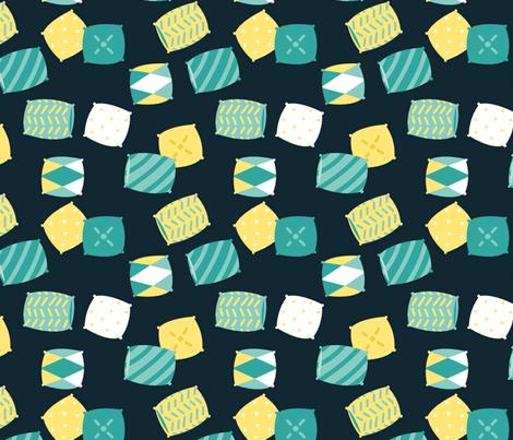Lazy Sloth - pillows dark fabric by ewa_brzozowska on Spoonflower - custom fabric
