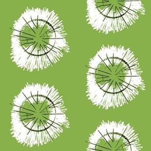 Tree Circles Green-White