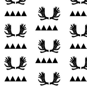 moose antler fabric // moose nursery black and white nursery baby fabrics