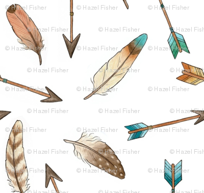 Scattered Feathers and Arrows - smaller