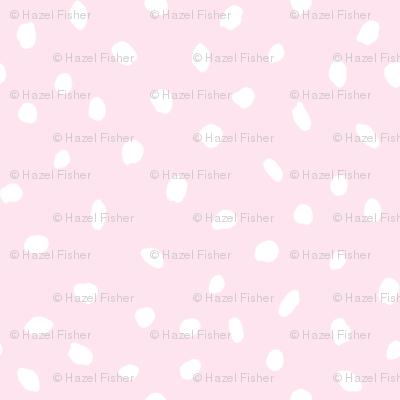 Hand Drawn Spotty - pastel blush pink