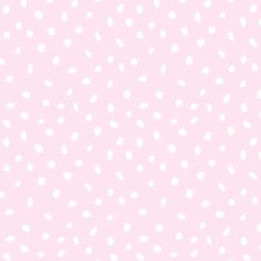 Hand Drawn Spotty - pastel blush pink