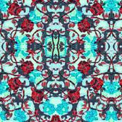 red rose mosaic