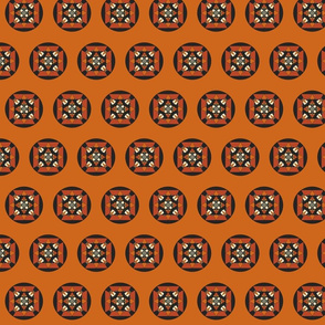 Tribal Mandala orange II