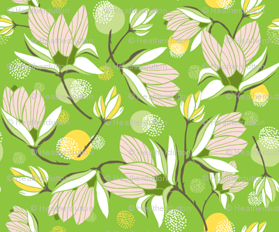 Magnolia Blossom - Floral Greenery